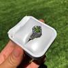 2.48ctw Yellow-Green Round Brilliant Diamond Cluster Ring 11