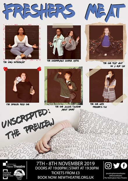 Unscripted: The Preview | Freshers Meat poster