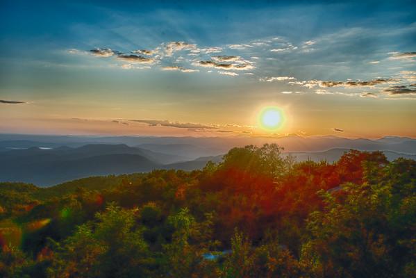 Sunset at Sassafrass Mt.