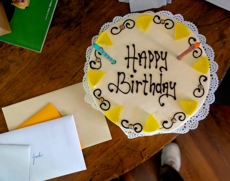 Our Birthday Party:  Here is our special lemon cake.
