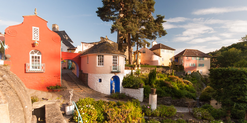Portmeirion model village in Wales