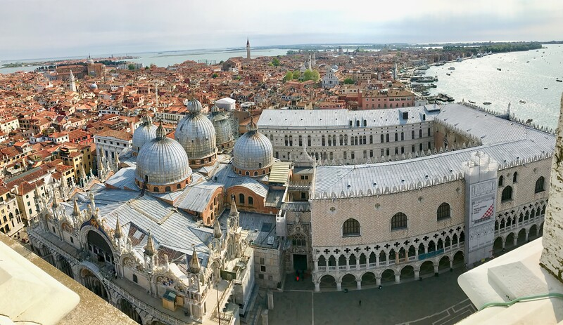 St. Mark's Basilica and Doge's Palace as viewed from the Bell Tower - Piazza San Marco