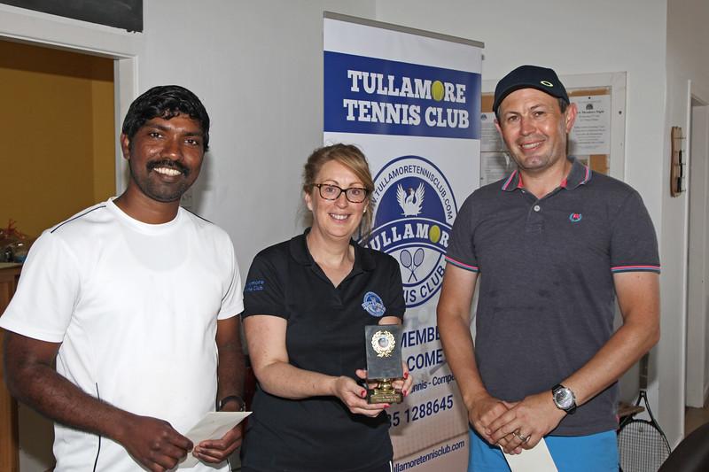 Tullamore Tennis Club's Open Blitz Sunday 28th July 2019     Picture. Niall O'Mara