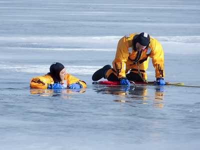 B-Shift Ice Rescue Training