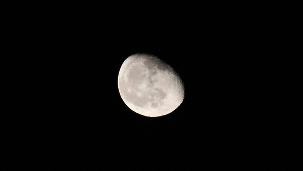 October 17:  Moon pics with the new camera .  .  .