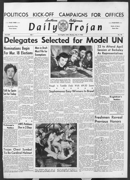 Daily Trojan, Vol. 44, No. 90, March 09, 1953