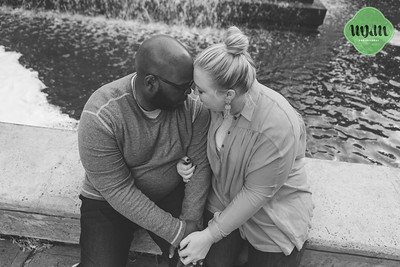 Jessica & Randolph | A Stylish Downtown Durham Engagement