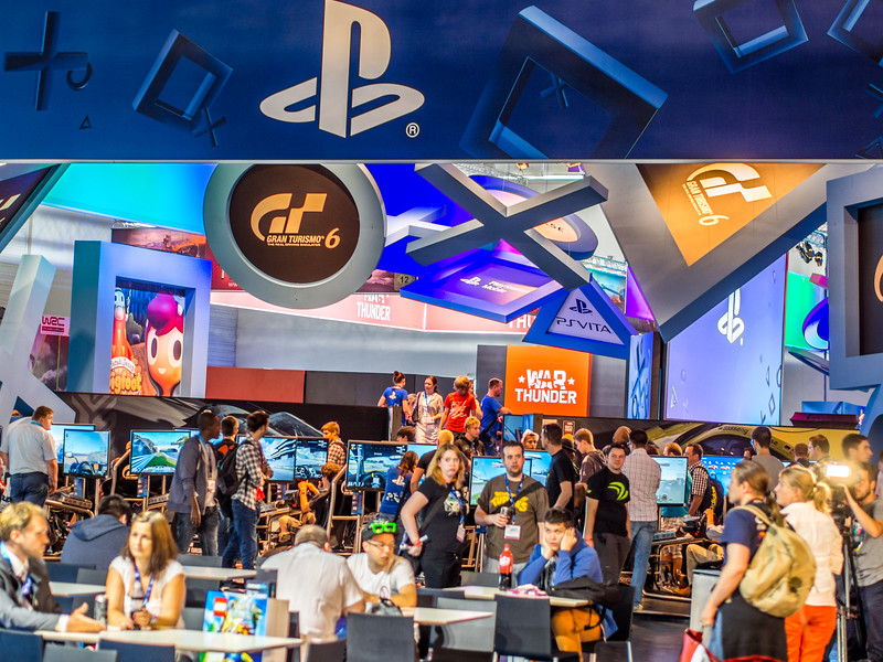 Sony booth at Gamescom 2013