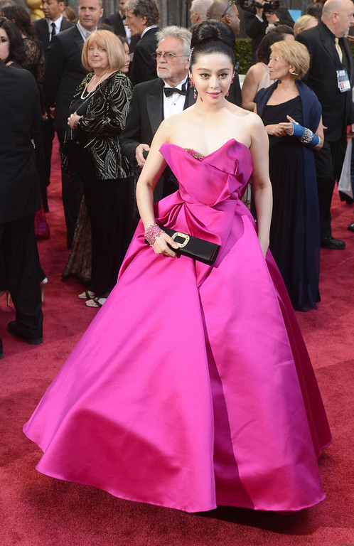 . Actress Fan Bingbing arrives at the 85th Academy Awards at the Dolby Theatre in Los Angeles, California on Sunday Feb. 24, 2013 ( Hans Gutknecht, staff photographer)