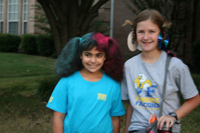 Crazy Hair Day at Courtney's School - October 2012