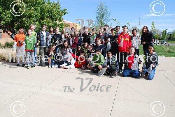 Aurora Arbor Day Day events at Granger Middle School in Aurora, IL 4-27-12