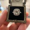 2.85ct Antique Cushion Cut Diamond Halo Ring 46