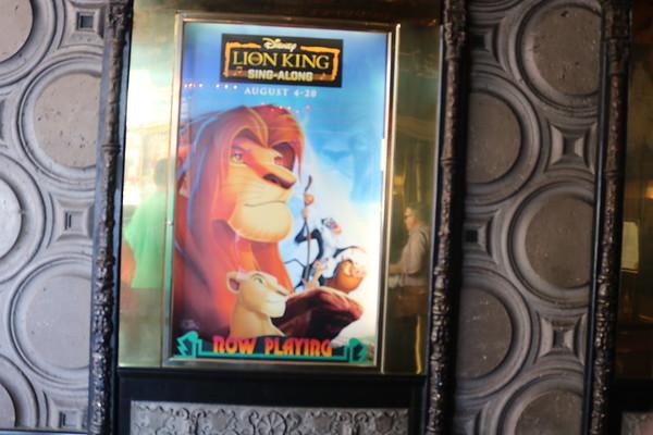 El Capitan Theatre - Lion King Sing-Along 2017