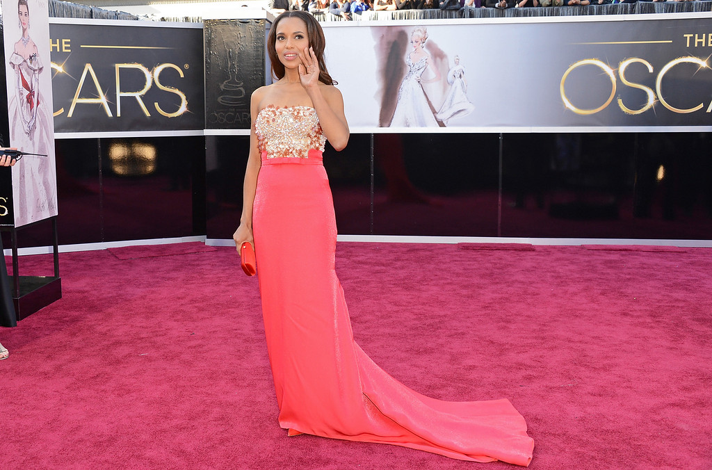. HOLLYWOOD, CA - FEBRUARY 24:  Actress Kerry Washington arrives at the Oscars at Hollywood & Highland Center on February 24, 2013 in Hollywood, California.  (Photo by Jason Merritt/Getty Images)