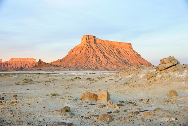 Sunrise by Factory Butte near Hanksville, Utah.