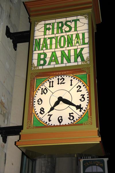 Restored Antique Clock Above Museum, Tamaqua (1-24-2013)