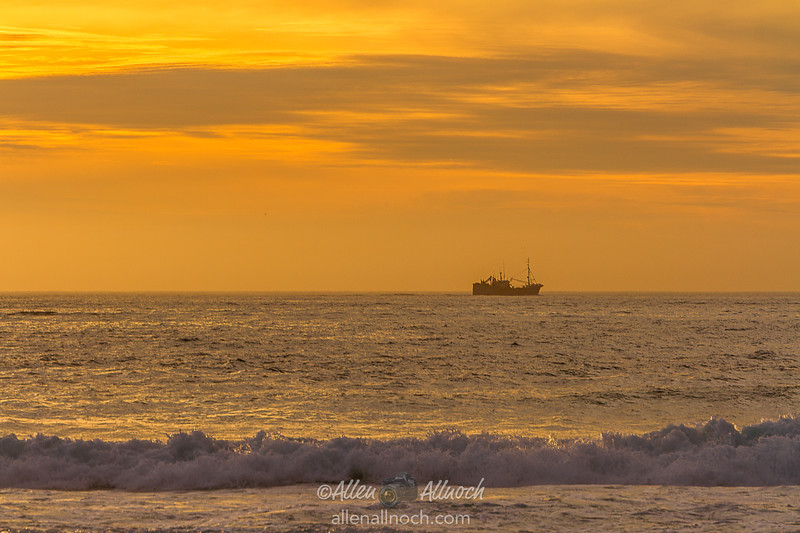 South African Fishing Boat at Sunset
