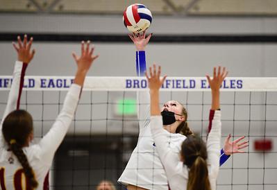 Photos: Broomfield Vs. Rocky Mountain Volleyball 10/12/21