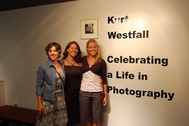 """Coach Kurt Westfall's awesome girls, Emily, Erin, and Megan. We were among hundreds enjoying the """"Kurt Westfall - Celebrating a Life in Photography"""" exhibition at TCC, 10July07."""