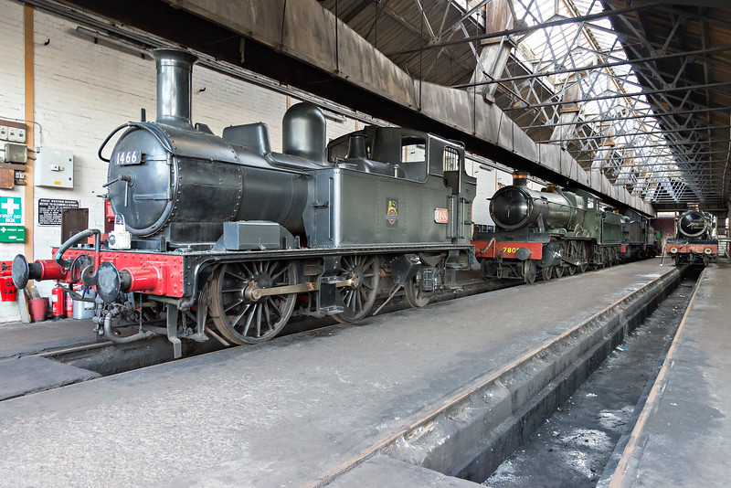 Quiet time inside Didcot Shed