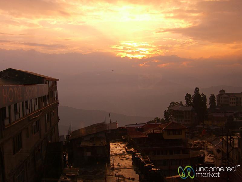 Sunset in Darjeeling, India