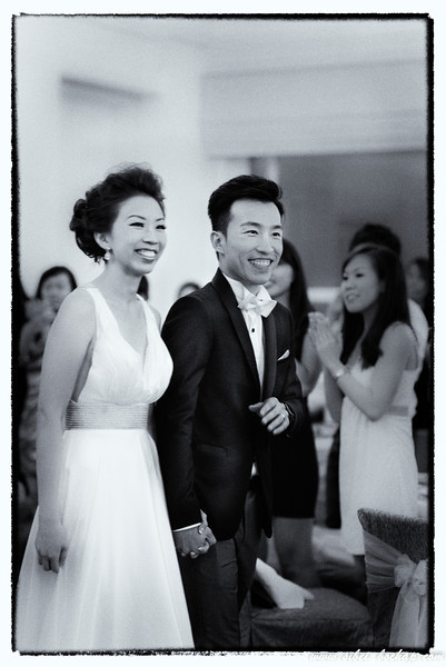 Wedding shots in B/W