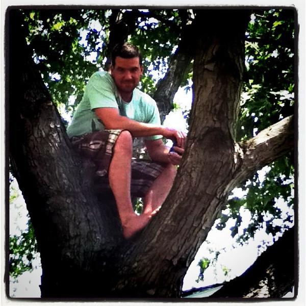 Lomo Geoff in a tree...