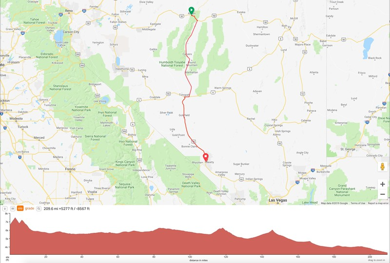 Day 2 Route & Elevation Profile