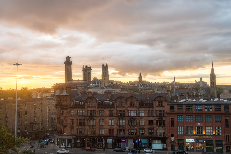 Glasgow as the Sun is Setting