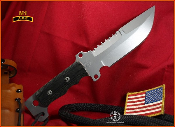 Relentless Knives M1 ACE Tactical Knife 2N653644C54332044 Complete
