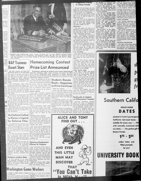 Daily Trojan, Vol. 33, No. 41, November 03, 1941