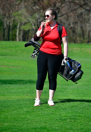 4/23/2019 Mike Orazzi | Staff St. Paul's Julia Marchak at the Westwoods Golf Course on Tuesday.
