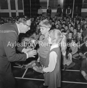 Road Safety Award at Bedgrove Infant School, Jan 1970