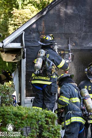 Garage Fire - 28 Wilton Rd, Rye Brook, NY - 7/4/20