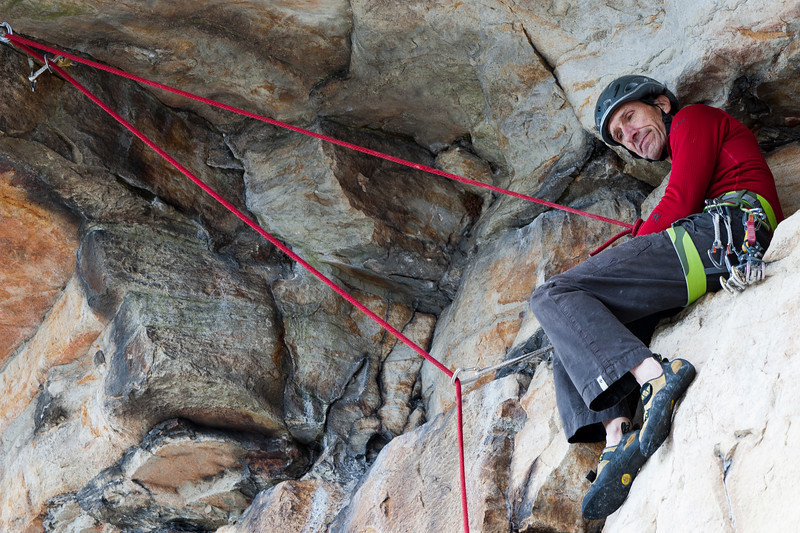 Rappelling at the Labyrinth near Mohonk Mountain House in New York