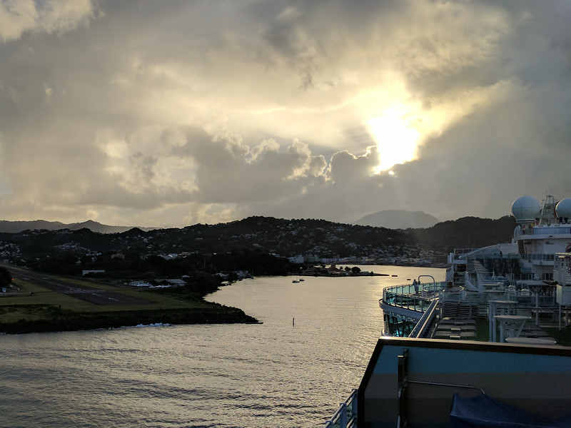 Docked in Castries City, St. Lucia