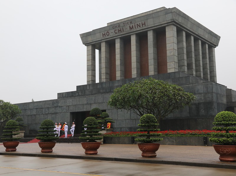 Ho Chi Minh Mausoleum - This is one of the most visited attractions in Hanoi.  It is the final resting place of Ho Chi Minh, where his body is on public display, preserved in a glass case.