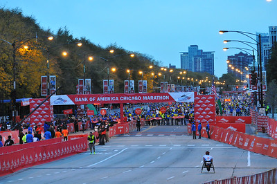 Start - 2012 Chicago Marathon