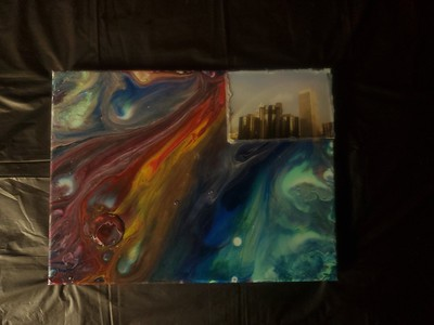 pour paintings