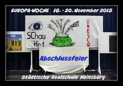 Europa-Woche Heinsberg 2015 Abschlussfeier  19/11/2015