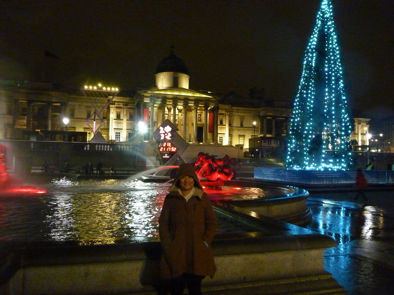 *Trafalgar Square with Olympic countdown in background