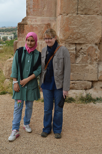 0044_AB and Jordan Schoolgirl at Jerash.JPG