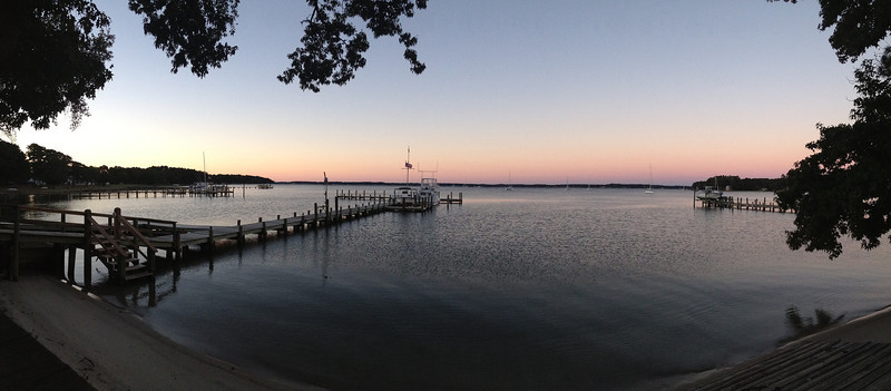 Sunset on Fishing Bay Friday night.