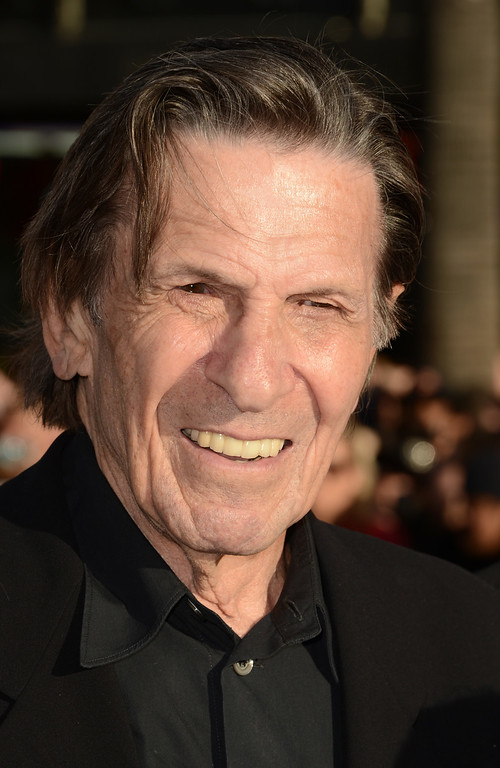 """. Actor Leonard Nimoy arrives at the Premiere of Paramount Pictures\' \""""Star Trek Into Darkness\"""" at Dolby Theatre on May 14, 2013 in Hollywood, California.  (Photo by Kevin Winter/Getty Images for Paramount Pictures)"""