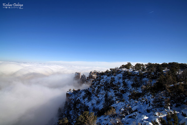 Grand Canyon - temperature inversion - Nov 2013