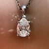1.11ct Pear Shape Diamond Pendant GIA E VVS2 21