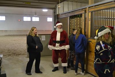 Santa and Horses