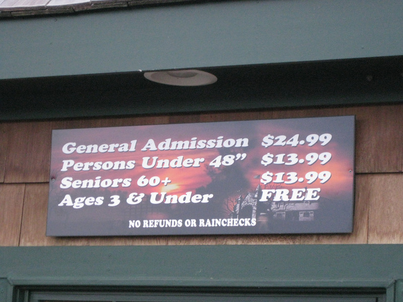 Admission prices.