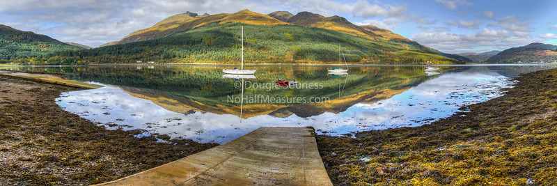 'Slipway'  07 October 2012 - Ben Arthur (the cobbler) as viewed accross Loch Long. Ardmay, Argyll, Scotland