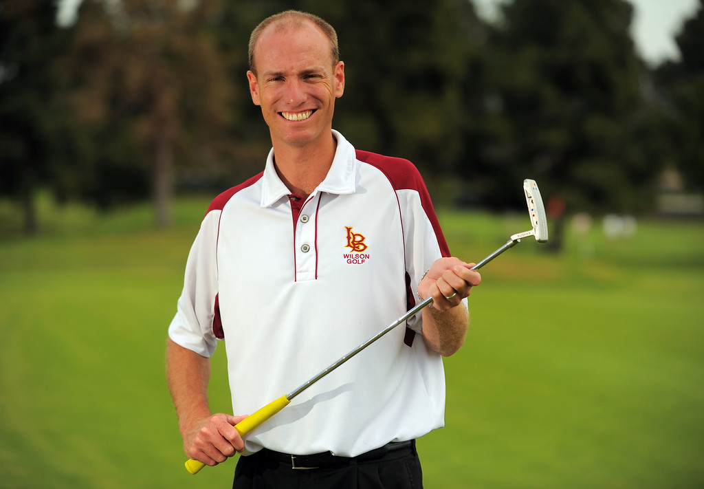 . LONG BEACH - 06/11/2013  (Photo: Scott Varley, Los Angeles News Group)  2013 Boys golf Coach of the Year is Wilson\'s Jeff Evans